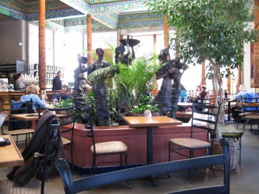 Dancing goddesses (so I call them) inside the restaurant area of the tea shoppe.