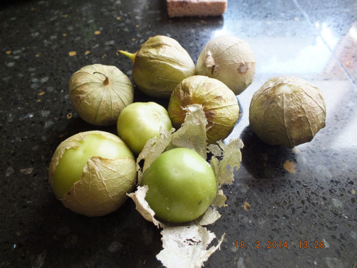 When shopping for tomatillos, make sure the papery outside is intact with no bad or moldy spots. It should feel firm like a tomato to a gentle touch.