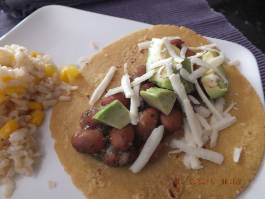 The most flavorful bean taco you will ever eat!
