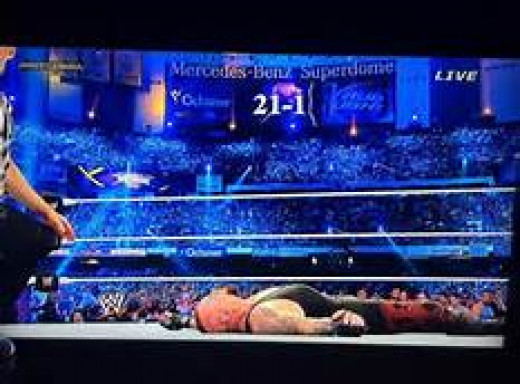 The Undertaker after losing to Brock Lesnar at Wrestlemania 30