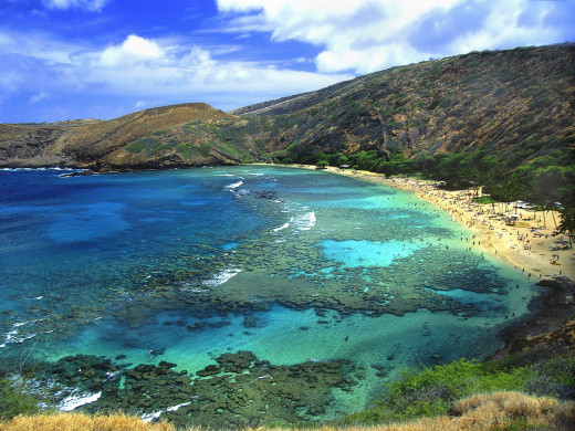 Hanauma Bay is my favorite place in Oahu for snorkeling and spending a day at the beach.