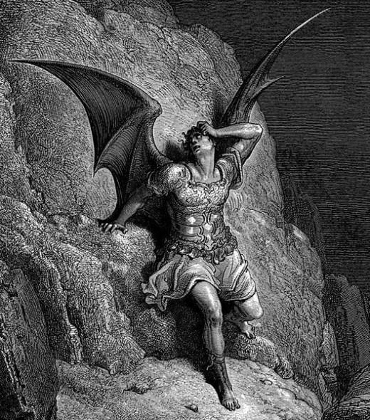 Gustave Dore Paradise Lost-Satan is Desperate