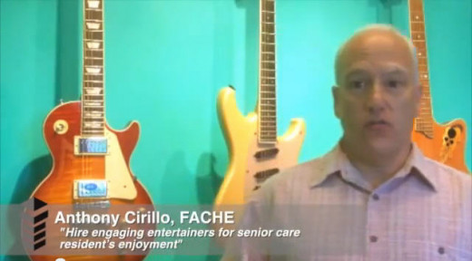 """Seniors Entertainment Expert """"Anthony Cirillo"""" from America, explains the how to hire engaging seniors entertainers for the best senior care residents joy and happiness."""