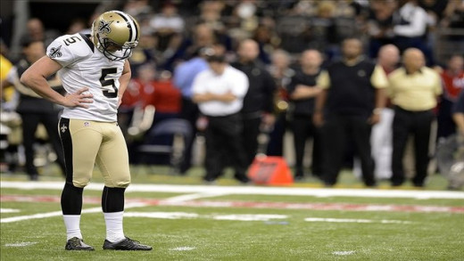 Kickers like former New Orleans Saint Garrett Hartley, who missed a league high 3 field goals of 30-39 yards, could cost their teams dearly on extra points.