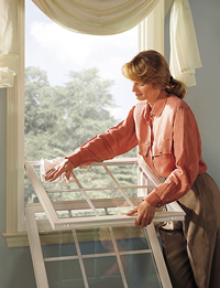 Cleaning is easy with tilt in sashes. Forget about climbing up unsafe ladders just to do routine cleaning.