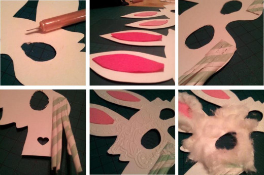 Cute DIY Easter Bunny Mask