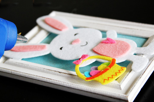 Cute DIY Bunny Easter Frames