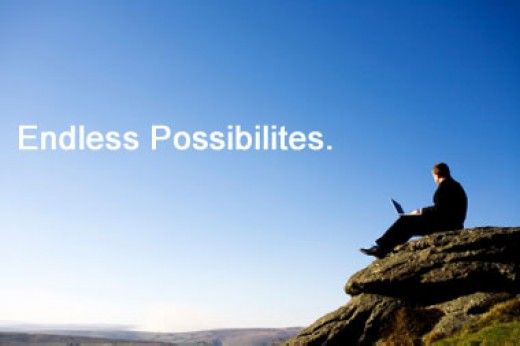 Endless possibilities. It says so, only mistyped. See that dude with the laptop?