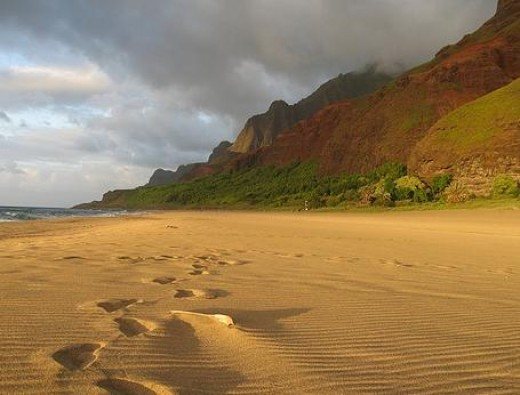 Kalalau Beach, at the End of Kalalau Trail