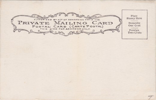 Back view of the Private Mailing Card.
