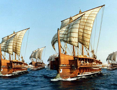 Reproductions of the Greek Trireme