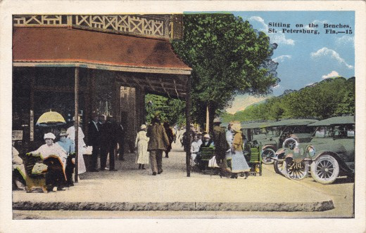 A typical white border postcard.