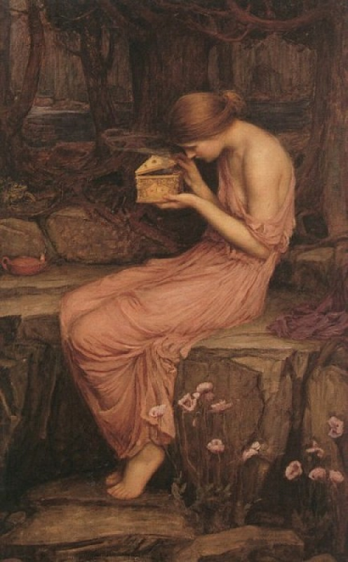 Psyche Opens Box from Persephone
