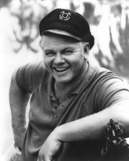 Photo of Alan Hale, Jr. as the Skipper from the television program Gilligan's Island.