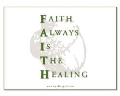 How might your faith be stretched or strengthened if you are not healed right away?