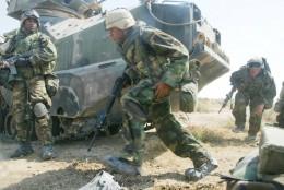 NASIRIYAH,IRAQ - MARCH 23:United States Marines