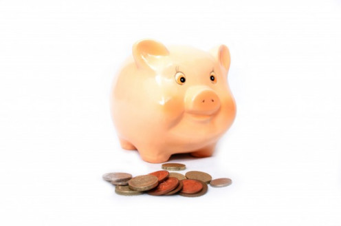 George Hodan pink piggy bank