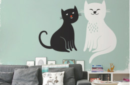 Contemporary murals can be pasted onto walls like regular wallpaper