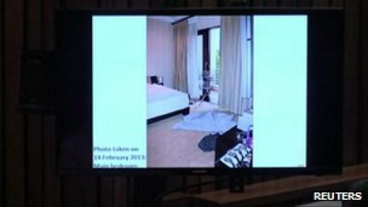 Police photo of Oscar's bedroom