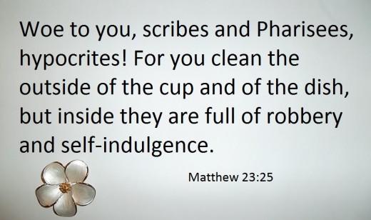 Bible: Matthew 23.25