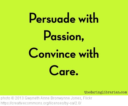 Find and use your passion in all you do.