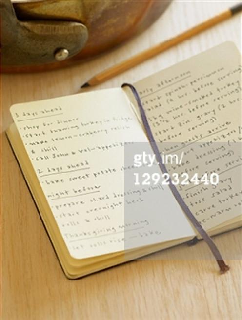 A draft of writing.