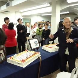 Elder H. M. Huang's 100 years old celebration.