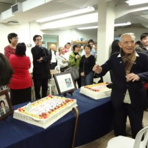 Elder H. M. Huang's 100 years old celebration.