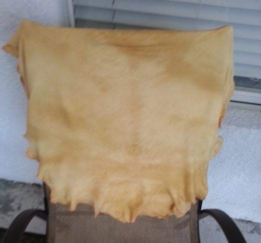 Hang a Chamois Out to Dry Away from Direct Sunlight