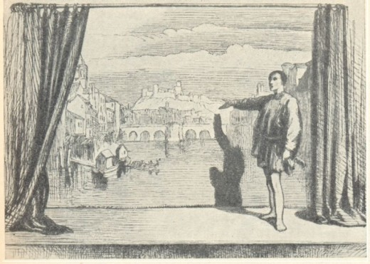 John Gilbert's drawing of the Prologue to Romeo and Juliet