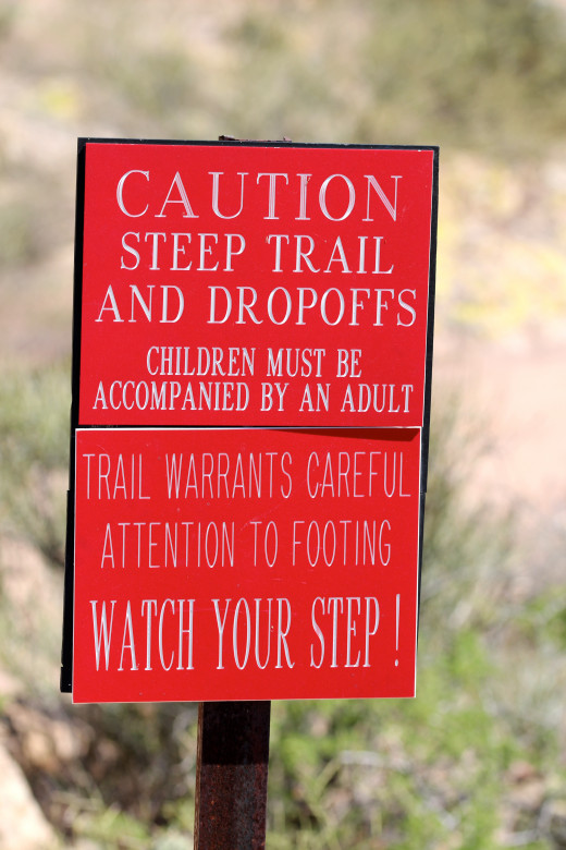 Hike at your own risk -- although it isn't really as treacherous as it sounds.