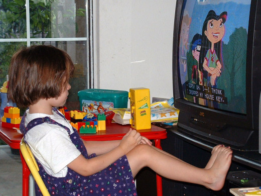 Unsupervised children are at a greater risk of becoming TV addicts.