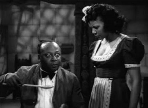 Samantha (Marguerite Whitten) the maid convinces Jeff (Montan Moreland) he isn't a zombie by feeding him salt