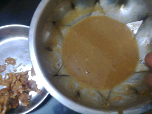 tamarind paste (juice) after removing of waste