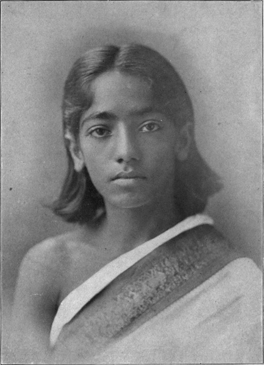 Jiddu Krishnamurti in his youth.