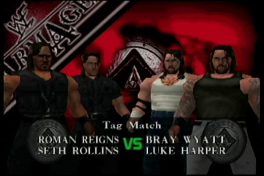 The Shield against the Wyatts in No Mercy