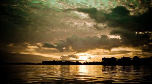 Sunset in Congo