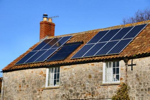 Residential solar panels.