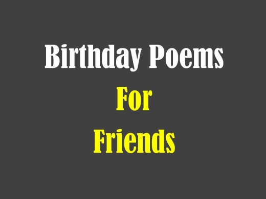 Poems To Say Happy Birthday To Your Best Friend