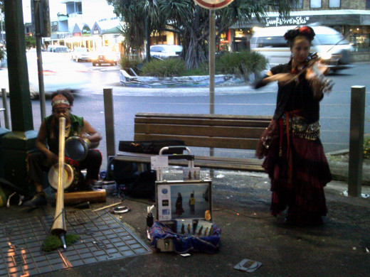 Busking can be very successful. You might have lots of competition, but if you are good you will attract an audience and donations. I've known buskers who can make hundreds of dollars from tourists in just a few hours.