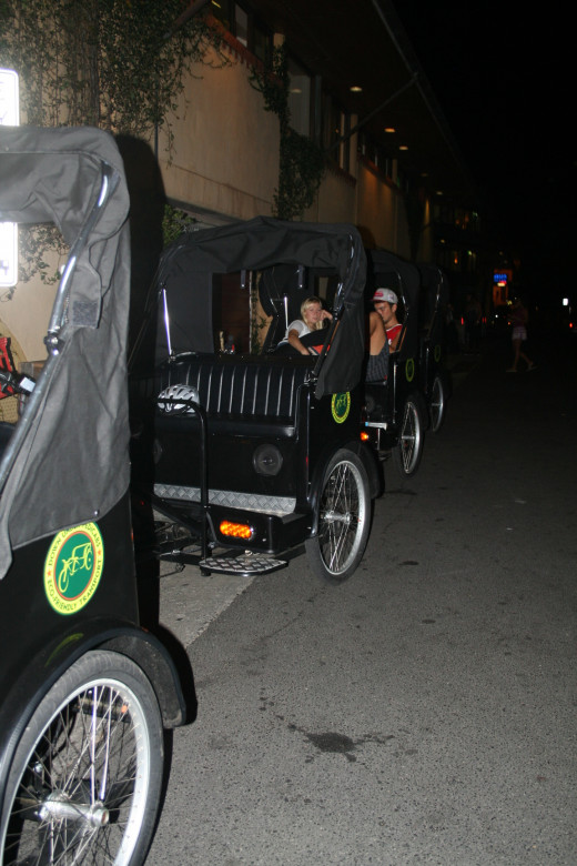 If you are fit, in a town like Byron Bay you can try a shift as a PediCab driver and cycle paying passengers around town.