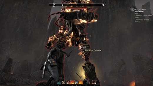 Balreth, a hefty, fire-based undead boss battled during The Death of Balreth quest in The Elder Scrolls Online. (Guess what happens to him.)