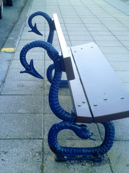These beautifully created seats on the promenade.