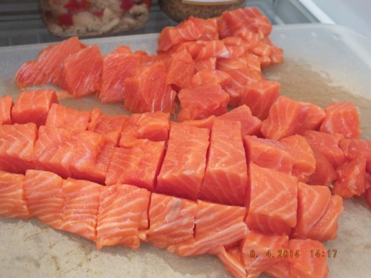 This is 1 1/2 pounds of fresh wild caught salmon.