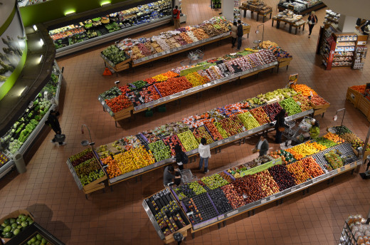 Kroger stores offer a selection of fresh produce