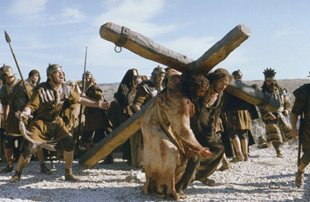 Christ going to be crucified