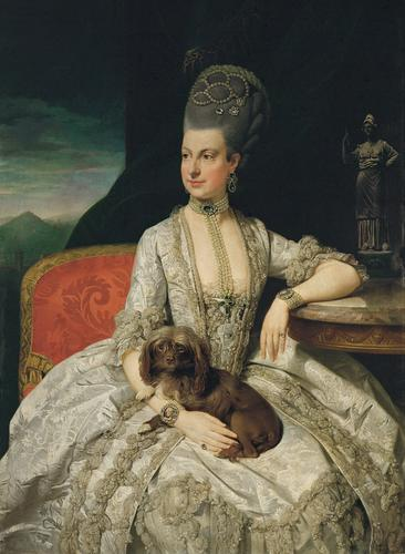 Archduchess Maria Christina, Duchess of Teschen (1742-1748), painted by Johann Zoffany (1733-1810) in 1776, Oil on canvas