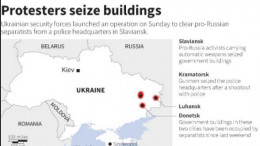 Pro-Russian Ukrainians seize buildings