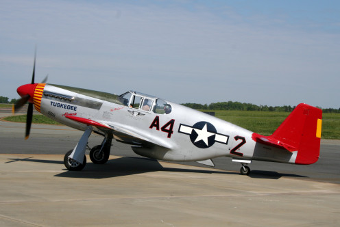 P-51 Mustang nicknamed 'Redtail'