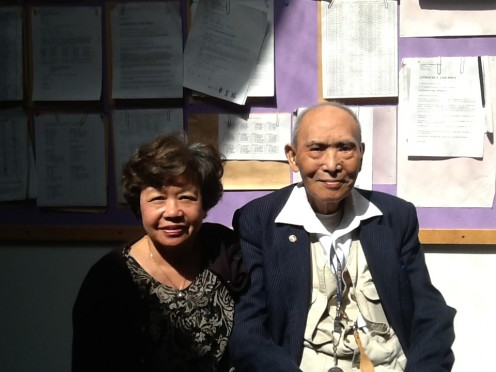 Maggie Huang and her father Elder H. M. Huang